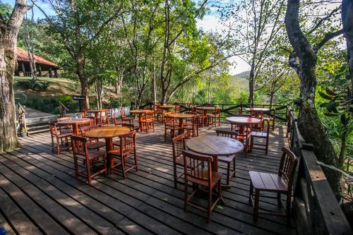 Parque das Cachoeiras - Vista do deck panorâmico Bonito MS Bonito Incomparável Foto Multi Frequência