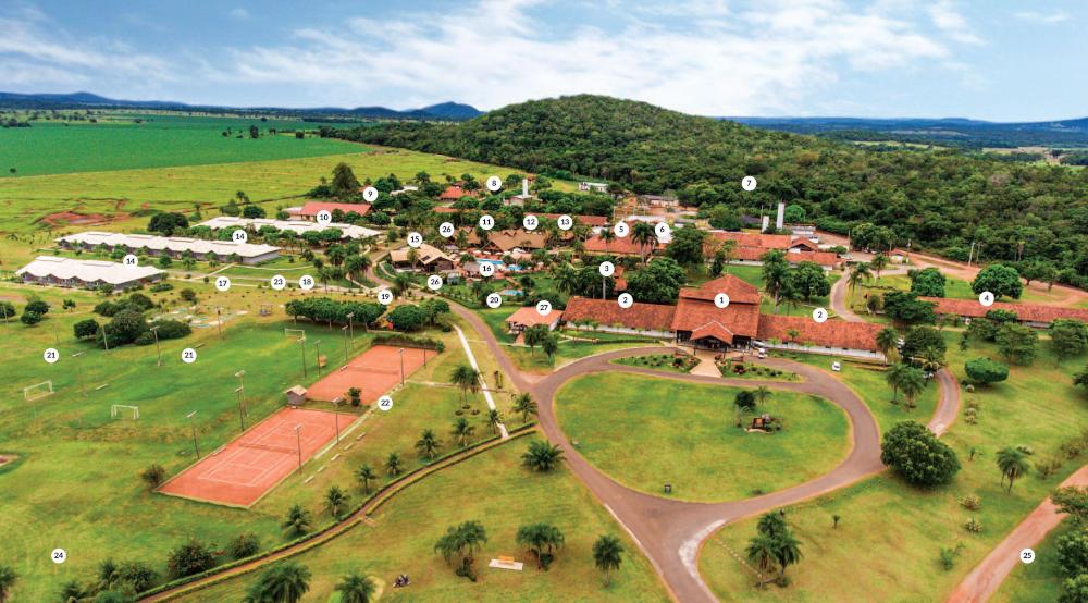 vista aérea do Zagaia Eco Resort