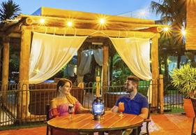 Jantar romântico no Zagaia