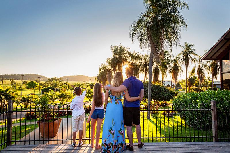 família no Zagaia eco resort
